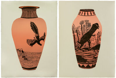 Jonas Wood, 'Archaeopteryx Lithographica - Dilophosaurus Wetherilli (Set of Two)', 2015