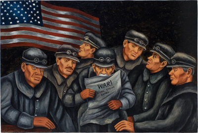 harry sternberg, 'Untitled (War! Coal Strike Ended)', c.1940