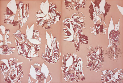 "Hernan Bas, 'Revised Endpapers for ""The Homosexual Neurosis"" (pink)', 2013"