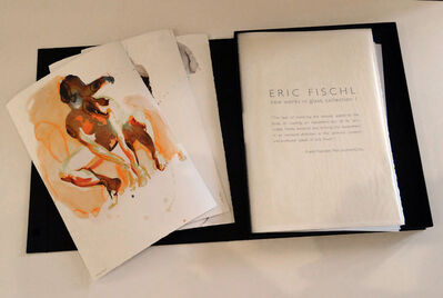Eric Fischl, 'New Works on Paper and in Cast Glass (Portfolio),  (Arching Woman, Tumbling Woman, Crouching Woman)', 2012