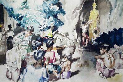 Robert Riggs, 'Thai Villagers Praying by Shrine', 1955-1965