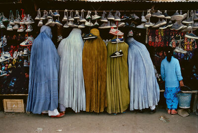 Steve McCurry, 'AFGHAN WOMEN AT SHOE STORE, KABUL, AFGHANISTAN,1992', 1992