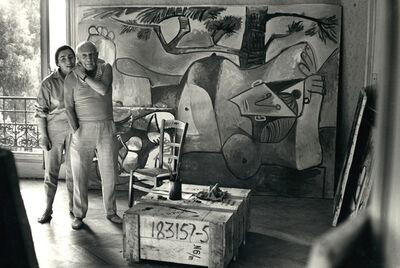 David Douglas Duncan, 'Jacqueline and Picasso on 3rd floor of La Californie', 1959