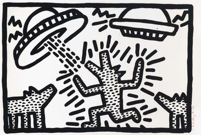 Keith Haring, 'Untitled: one plate', 1982