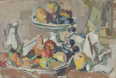 Herbert Barnett, 'Still Life with Pitcher and Compote', Mid 1950s