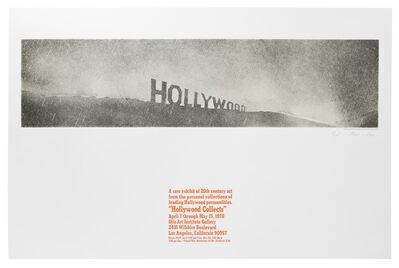 Ed Ruscha, 'Hollywood in the Rain', 1969