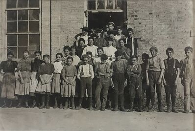 Lewis Wickes Hine, 'A few of the workers in Cherryville Mfg. Co., Cherryville, N.C., November 10, 1908', 1908