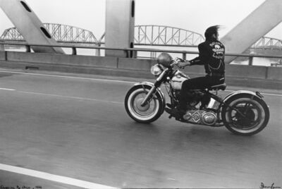 Danny Lyon, 'Crossing the Ohio, from The Bikeriders', 1989