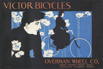 William H. Bradley, 'Victor Bicycles / Overman Wheel Co.', 1896