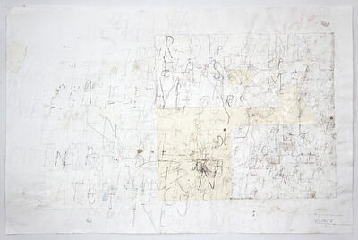 David Scher, 'Untitled (Lettering)', 2018
