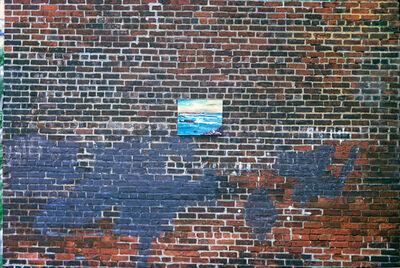 Robert Funk, 'Seascape in brickwall', 1972