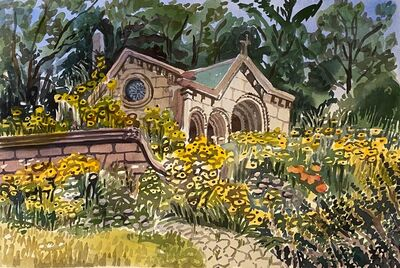 Susan Greenstein, 'Greenwood with Yellow Flowers', 2020