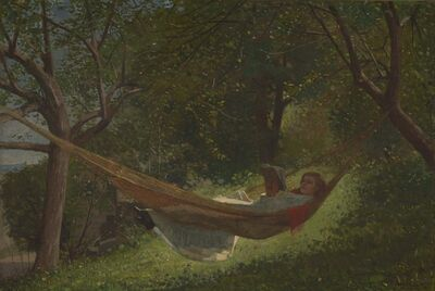 Winslow Homer, 'Girl in a Hammock', 1873