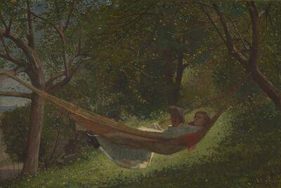 Winslow Homer, 'Girl in a Hammock', 1873