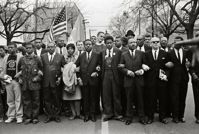 Steve Schapiro, 'Martin Luther King Jr. and Group Entering Montgomery', 1965