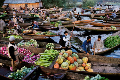 Steve McCurry, 'Market Vendors on Dal Lake', 1999