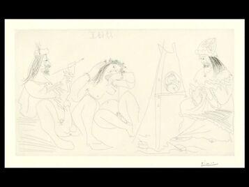 Pablo Picasso, 'Raphael Et La Fornarina. VII: Le Pape East La, Assis (B. 1782;BA 1799)', 1968