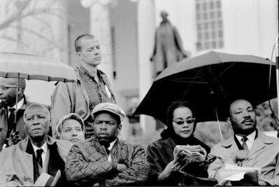 Steve Schapiro, 'At the end of the Selma March, (Philip Randolph, John Lewis, Coretta Scott King, Martin Luther King), 1965 '