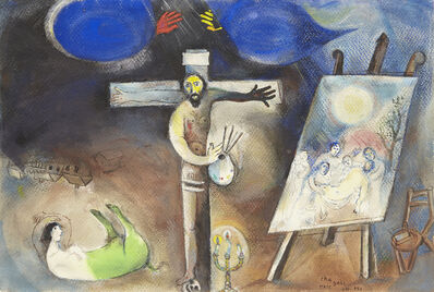 Marc Chagall, 'Painter Crucified', 1941-42