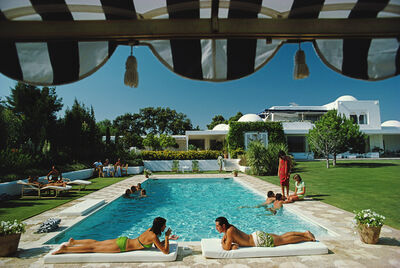 Slim Aarons, 'Poolside In Sotogrande', 1975