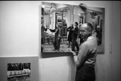 Eve Arnold, 'Henri Cartier-Bresson putting up his exhibition. New York City, USA. ', 1950