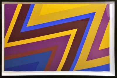 Howard Mehring, 'Untitled Silkscreen.  Framed Signed & Dated Artist's Proof (in golds, blues, and reds)', 1969