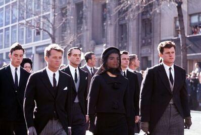 Henri Dauman, 'A Sorrowing Family Marches Together, JFK Funeral, Washington, DC', 1963