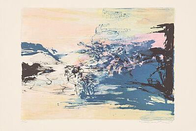 "Zao Wou-Ki 趙無極, 'ohne Titel (aus ""Galeria Joan Prats 1976 - 1988 - Carpeta commemorativa 12. aniversari)', 1972"