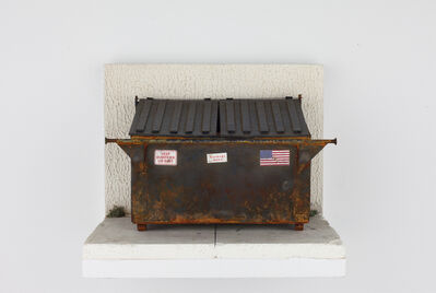 Drew Leshko, 'Rusty Navy Blue Dumpster (in vitrine)', 2019