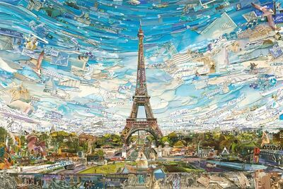 Vik Muniz, 'Eiffel Tower (Postcards from Nowhere)', 2015