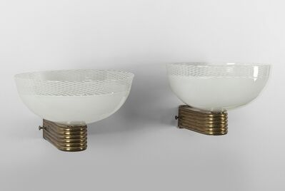 Venini, 'A pair of wall lamps', 1960's