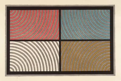 Sol LeWitt, 'Arcs from 4 Corners'
