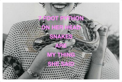 Clare Strand, 'Snake V', 2016