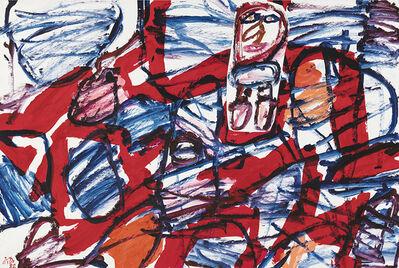 Jean Dubuffet, 'Site aléatoire avec un personnage', 1962