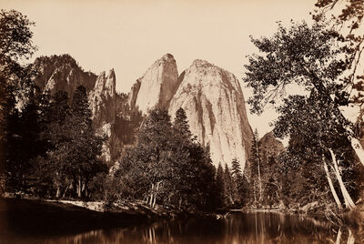 Carleton E. Watkins, 'River View, Cathedral Rock, Yosemite', 1861