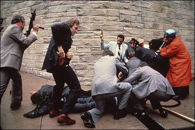 Sebastião Salgado, 'Would-be assassin of President Reagan after failed assassination attempt, Washington, D.C.,', 1981