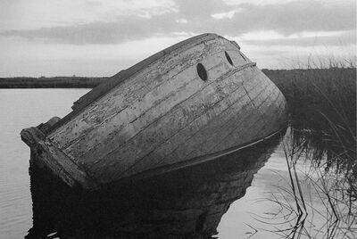 George Tice, 'Wrecked Boat, Cheesequake Creek, Morgan, NJ', 1993