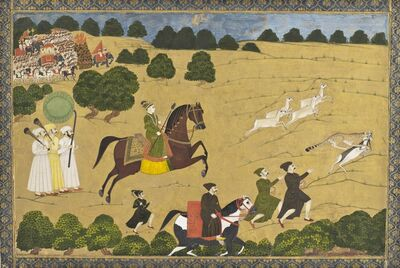 'Prince Hunting with Cheetah', ca. 1764
