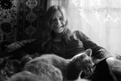 Baron Wolman, 'Janis Joplin with cat '