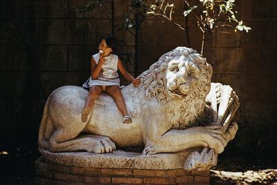 Slim Aarons, 'Villa Borghese Lion', 1970