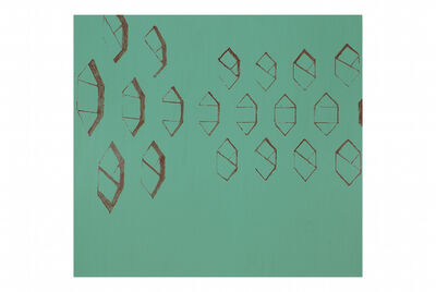 David Diao, 'Green Chalkboard (Melnikov)', 2012