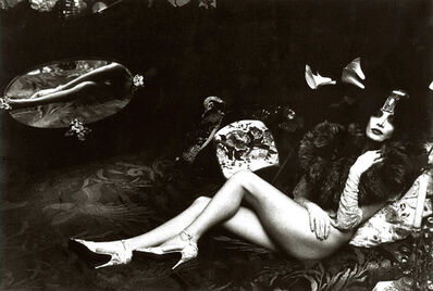 Irina Ionesco, 'Female Nude with Fur and Mirror Reflection', 1970s