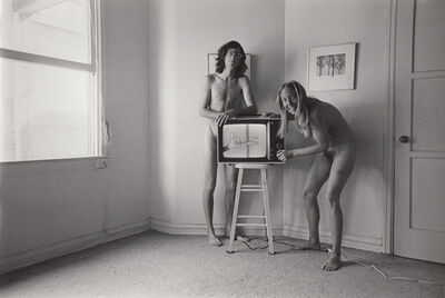 Ed Sievers, 'Untitled (man and women with tv) from People in My Corner, Venice, CA', c. 1970's