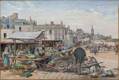 Ludovic Piette, 'Le Marché, Le Mans', 1875