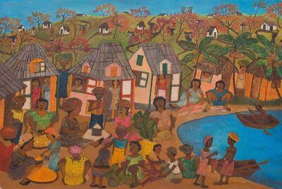 Micius Stephane, 'Village Market', ca. 1960's
