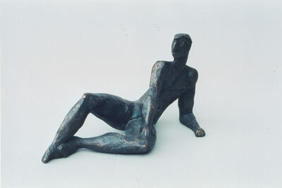 Berthold Müller-Oerlinghausen, 'Liegender Jüngling', 1953