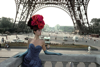Frank Horvat, 'Patrizia (For Figaro Madame, Eiffel Tower), Paris', 1986