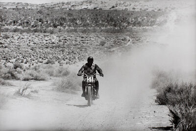 William Claxton, 'Steve McQueen, Mojave Desert Bike Race, CA', 1963