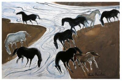 Andre Brasilier, 'L'Heure où les chevaux vont boire', 2017