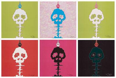 Takashi Murakami, 'Time Bokan- black, Time Bokan- green, PINK-TIME, RED-TIME, LIME GREEN-TIME, BOKAN- camouflage pink', 2001-09